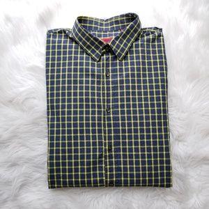 HUGO Hugo Boss Blue Yellow Check Shirt